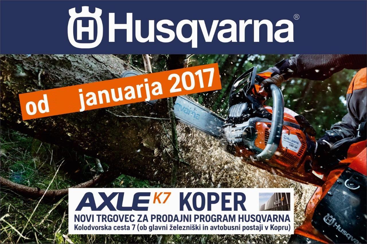 Husqvarna na novi lokaciji Axle K7 Koper